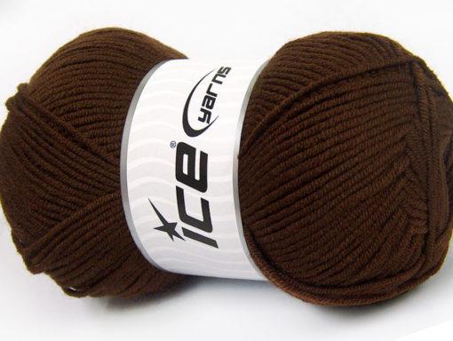 Lot of 4 x 100gr Skeins Ice Yarns CLASSIC ARAN Hand Knitting Yarn Brown