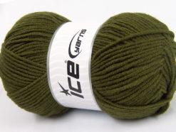 Lot of 4 x 100gr Skeins Ice Yarns CLASSIC ARAN Hand Knitting Yarn Dark Green