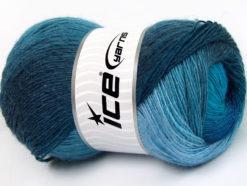 Lot of 4 x 100gr Skeins Ice Yarns ALPACA ACTIVE (20% Alpaca 20% Wool) Yarn Turquoise Shades Blue