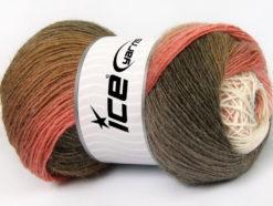 Lot of 4 x 100gr Skeins Ice Yarns ALPACA ACTIVE (20% Alpaca 20% Wool) Yarn Camel Shades Pink Shades White