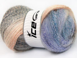 Lot of 4 x 100gr Skeins Ice Yarns MOHAIR PASTEL (10% Mohair 15% Wool) Yarn Lilac Salmon Blue Cream
