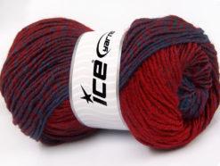 Lot of 4 x 100gr Skeins Ice Yarns FANTASIA (25% Wool) Yarn Red Blue