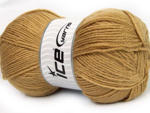 Lot of 4 x 100gr Skeins Ice Yarns GONCA Hand Knitting Yarn Light Camel