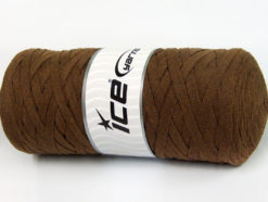 250 gr ICE YARNS JUMBO COTTON RIBBON (100% Recycled Cotton) Yarn Brown
