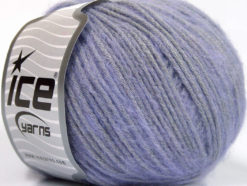 Lot of 8 Skeins Ice Yarns BAMBOO SOFTAIR (15% Bamboo) Yarn Light Lilac