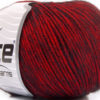 Lot of 8 Skeins Ice Yarns BAMBOO SOFTAIR (15% Bamboo) Yarn Black Red