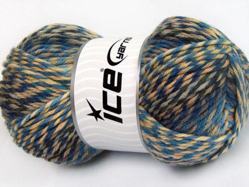 Lot of 4 x 100gr Skeins Ice Yarns HARMONY Yarn Blue Shades Camel Beige Grey Cream