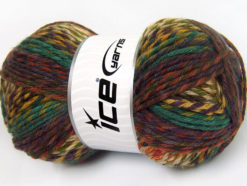 Lot of 4 x 100gr Skeins Ice Yarns HARMONY Yarn Maroon Teal Copper Green Shades