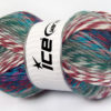 Lot of 4 x 100gr Skeins Ice Yarns HARMONY Yarn Grey Khaki Orchid White Turquoise