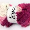 Lot of 4 x 100gr Skeins Ice Yarns LAMBKIN COLOR Yarn Pink Shades White