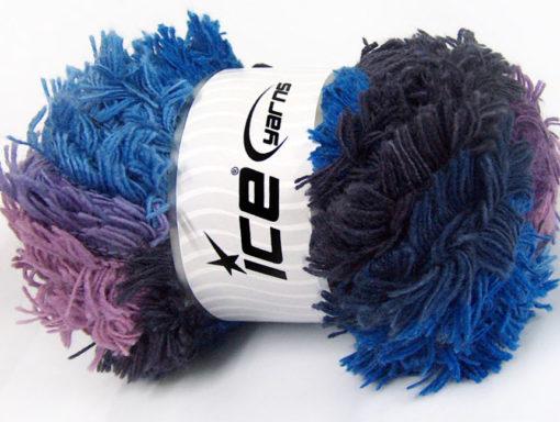 Lot of 4 x 100gr Skeins Ice Yarns LAMBKIN COLOR Yarn Blue Shades Maroon Lilac Shades