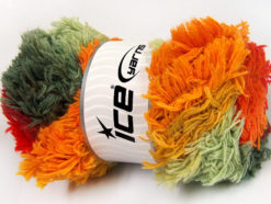 Lot of 4 x 100gr Skeins Ice Yarns LAMBKIN COLOR Yarn Red Orange Grey Shades Orchid