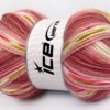 Lot of 4 x 100gr Skeins Ice Yarns BABY DESIGN Yarn Orchid Shades Green Fuchsia White