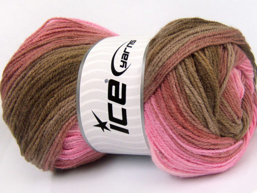 Lot of 4 x 100gr Skeins Ice Yarns MAGIC LIGHT Yarn Pink Shades Brown Shades