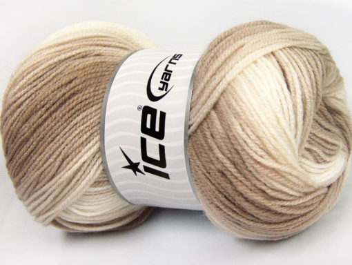 Lot of 4 x 100gr Skeins Ice Yarns BABY BATIK Yarn Camel Beige Cream