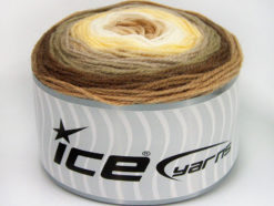 Lot of 3 x 100gr Skeins Ice Yarns CAKES BABY FINE Yarn Brown Camel Light Yellow White