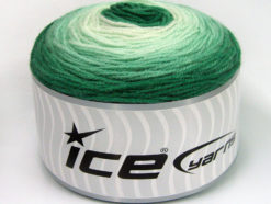 Lot of 3 x 100gr Skeins Ice Yarns CAKES BABY FINE Yarn Green Shades