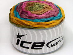Lot of 2 x 150gr Skeins Ice Yarns CAKES CHENILLE Yarn Gold Turquoise Purple Pink Brown Khaki