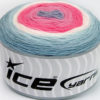 Lot of 2 x 150gr Skeins Ice Yarns CAKES DK Yarn Blue Shades Pink Shades White