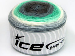 Lot of 2 x 150gr Skeins Ice Yarns CAKES DK Yarn Grey Shades Mint Green White