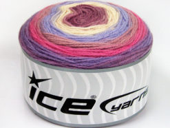 Lot of 2 x 150gr Skeins Ice Yarns CAKES DK Yarn Lilac Shades Pink Shades Cream
