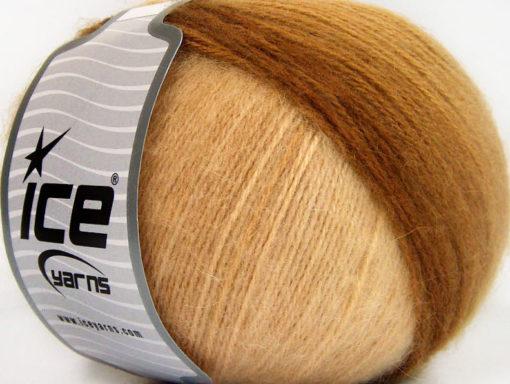 Lot of 4 x 100gr Skeins Ice Yarns ANGORA DESIGN (20% Angora 20% Wool) Yarn Brown Shades