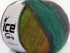 Lot of 4 x 100gr Skeins Ice Yarns ANGORA DESIGN (20% Angora 20% Wool) Yarn Maroon Teal Purple Green Shades Brown