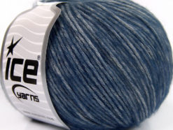Lot of 8 Skeins Ice Yarns BAMBOO SOFTAIR (15% Bamboo) Yarn Navy Grey