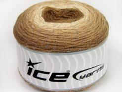 Lot of 2 x 150gr Skeins Ice Yarns CAKES GLITZ Yarn Brown Shades Cream