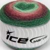 Lot of 2 x 150gr Skeins Ice Yarns CAKES GLITZ Yarn Green Shades Maroon Rose Pink
