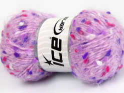 Lot of 3 x 100gr Skeins Ice Yarns BONIBON Yarn Lilac Purple Fuchsia White