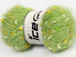 Lot of 3 x 100gr Skeins Ice Yarns BONIBON Hand Knitting Yarn Green Gold White