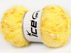 Lot of 3 x 100gr Skeins Ice Yarns BONIBON Hand Knitting Yarn Yellow Gold White