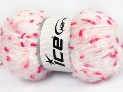 Lot of 3 x 100gr Skeins Ice Yarns BONIBON Yarn White Pink Shades Salmon