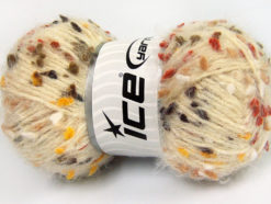 Lot of 3 x 100gr Skeins Ice Yarns BONIBON Yarn Cream Brown Shades Yellow White