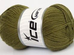 Lot of 4 x 100gr Skeins Ice Yarns BAMBOO BABY (60% Bamboo) Yarn Khaki