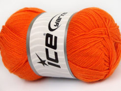 Lot of 4 x 100gr Skeins Ice Yarns BAMBOO BABY (60% Bamboo) Yarn Dark Orange