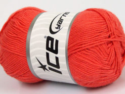 Lot of 4 x 100gr Skeins Ice Yarns BAMBOO BABY (60% Bamboo) Yarn Dark Salmon