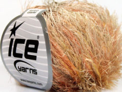 Lot of 8 Skeins Ice Yarns EYELASH COLORFUL Yarn Camel Orange Yellow Cream