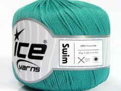 Lot of 6 Skeins Ice Yarns SWIM Hand Knitting Yarn Turquoise