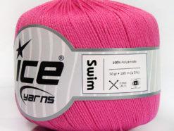 Lot of 6 Skeins Ice Yarns SWIM Hand Knitting Yarn Pink