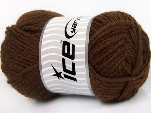 Lot of 2 x 200gr Skeins Ice Yarns ATLAS JUMBO Hand Knitting Yarn Brown