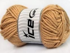 Lot of 2 x 200gr Skeins Ice Yarns ATLAS JUMBO Hand Knitting Yarn Cafe Latte