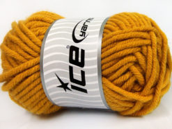 Lot of 2 x 200gr Skeins Ice Yarns ATLAS JUMBO Hand Knitting Yarn Gold