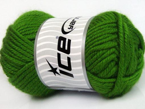 Lot of 2 x 200gr Skeins Ice Yarns ATLAS JUMBO Hand Knitting Yarn Green