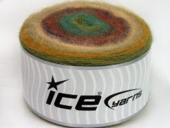 Lot of 2 x 200gr Skeins Ice Yarns CAKES ANGORA (20% Angora 20% Wool) Yarn Beige Purple Copper Brown Turquoise Green