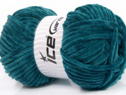 Lot of 4 x 100gr Skeins Ice Yarns CHENILLE BABY (100% MicroFiber) Yarn Teal