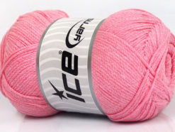 Lot of 4 x 100gr Skeins Ice Yarns NATURAL COTTON AIR (100% Cotton) Yarn Baby Pink