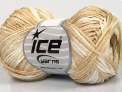 Lot of 8 Skeins Ice Yarns FETTUCCIA FINE Hand Knitting Yarn Cream White