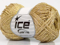 Lot of 8 Skeins Ice Yarns VISCOSA STELLA (75% Viscose) Hand Knitting Yarn Gold